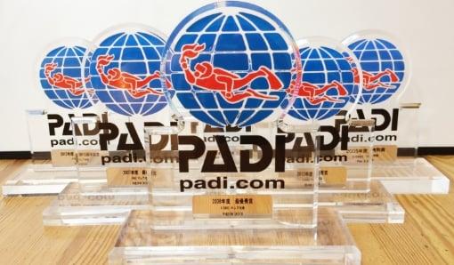 REASON #03 PADIからたくさん表彰されているから