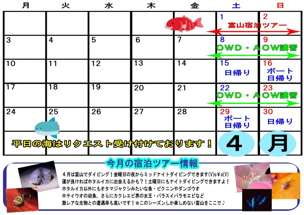 2017年4月ツアースケジュール