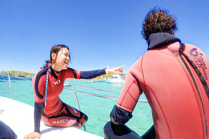 QUESTION #02 スキューバダイビングを始めて、<br /> 自分の生活の中で変わったことは?